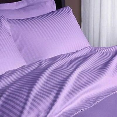 1000 Thread Count Egyptian Cotton Duvet Cover Set UK Sizes Color Lilac Striped • 65.99£