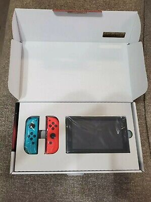 $ CDN393.89 • Buy Nintendo Switch 32GB Black Console With Neon Red And Neon Blue Joy-Con HAC-001