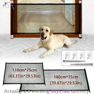 £9.89 • Buy Pet Dog Gate Safety Guard Folding Baby Toddler Stair Gate Isolation Retractable