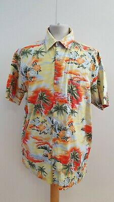 Mens Atlantic Bay Multicolour Floral Short Sleeve Hawaiian Shirt Uk M Eu 50 • 7.99£