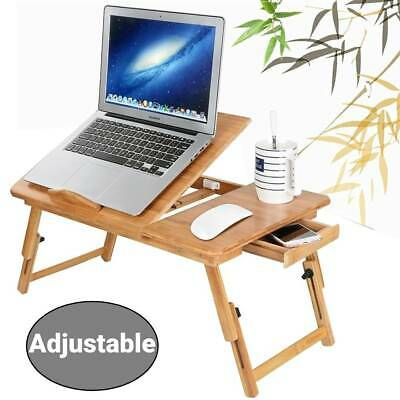 Adjustable Laptop Stand Desk Table Folding Computer Table Portable Sofa Lap Tray • 15.99£