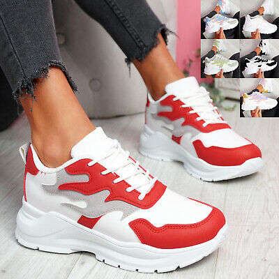 $ CDN29.41 • Buy Womens Ladies Slip On Chunky Sneakers Party Trainers Platform Women Shoes Size