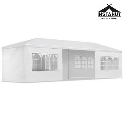 AU192.14 • Buy Instahut Gazebo 3x9 Outdoor Marquee Gazebos Side Wall Tent Canopy Camping White
