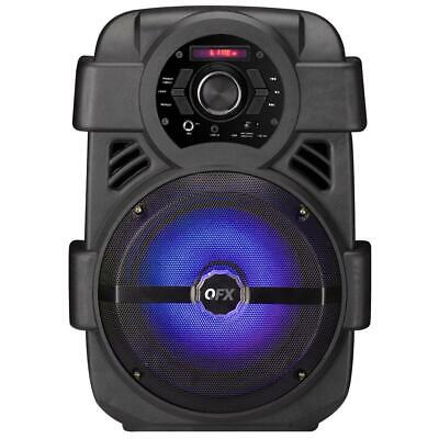 $ CDN62.87 • Buy QFX Party Speaker Portable Bluetooth Rechargeable FM Radio USB Port 8 In. Woofer