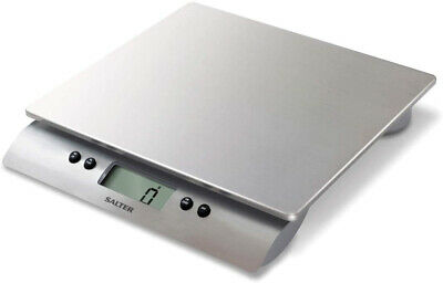 Salter Aquatronic Digital Kitchen Weighing Scales ? Stylish Silver Design, Up • 67.90£