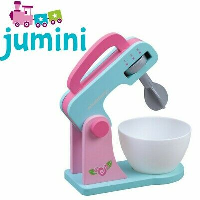 Jumini Wooden Pretend Play Set Food Mixer Kitchen Accessories Toddler Toy Age 3+ • 21.90£