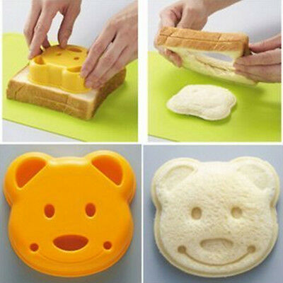 Kids Yellow Bear Design DIY Sandwich Toast Bread Making Cutters Mold • 5.39£