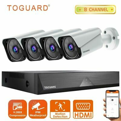 AU141.93 • Buy TOGUARD 8CH Wired CCTV Home Security Camera System 1080P DVR Day Night Outdoor