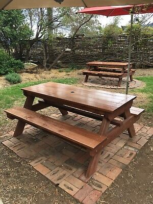 AU693 • Buy Timber Outdoor Setting Picnic Table Brand New 1.8 Metres