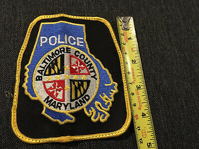 £4.49 • Buy USA America Police Cloth Badge Patch Baltimore County Maryland EMBROIDERED