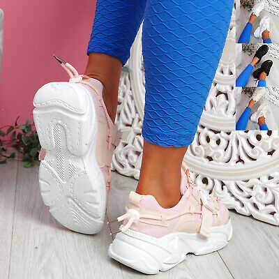 $ CDN32.59 • Buy Womens Ladies Chunky Sole Trainers Sneakers Party Women Sport Shoes Size