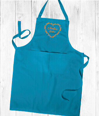 Personalised Embroidered Ladies Kitchen Cooking Apron,With Pockets Mothers Day  • 14.99£