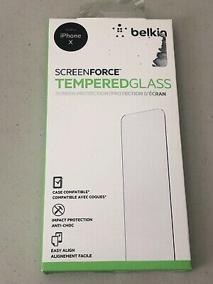 AU7.54 • Buy [BELKIN] ScreenForce Tempered Glass Screen Protector For IPhone X, F8W861zz  B24