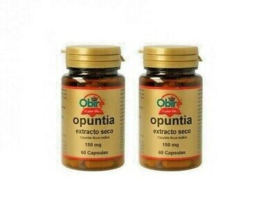 Opuntia 150 Mg. 2x60 Capsules OBIRE Control Weight Satiating • 12.50£