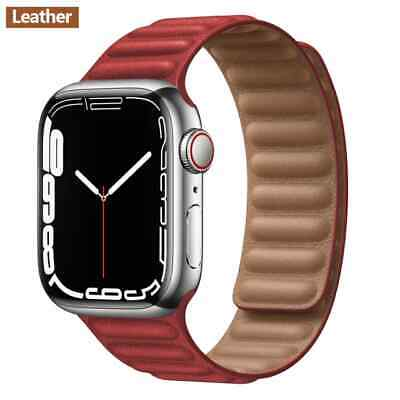 AU19.05 • Buy Leather Link Strap For Apple Watch Band Original Magnetic Loop Bracelet IWatch S