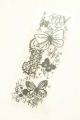 £6.50 • Buy Butterfly Clear Rubber Stamp-large Steampunk-butterflies  Background-multi Media