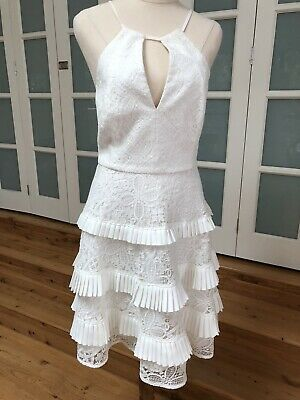 AU45 • Buy 🌿 Stunning Forever New Size 14 Cream White Lace Fit & Flare Dress