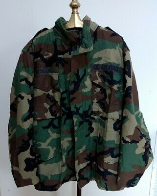 $40 • Buy US Airforce Woodland M65 Field Jacket Coat Cold Weather Camo Med-Reg Made In USA