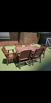 AU750 • Buy Outdoor Furniture Jarrah Table And Chairs