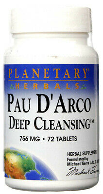 PLANETARY HERBALS - Pau DArco Deep Cleansing 756 Mg - 72 Tablets • 6.44£