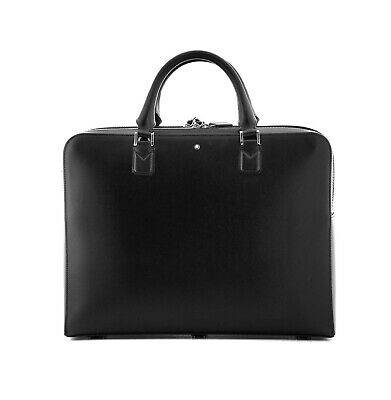 $725 • Buy Montblanc Meisterstuck Black Leather Document Briefcase Bag 118290 New Germany