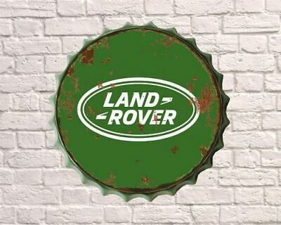 Land Rover  Retro Vintage Bottle Top Wall Display Sign     Size  30/40cm • 12.75£
