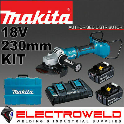 AU889.95 • Buy MAKITA 9  230mm 36V Cordless Angle Grinder + 2x 5.0AH Batteries + Dual Charger