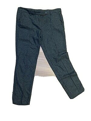 £3.80 • Buy Benetton Trousers, Teal Blue Dogtooth Check
