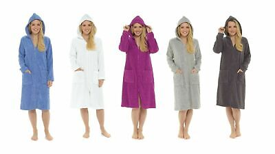 £19.45 • Buy CityComfort Hooded Towelling Bathrobe Dressing Gown With Zip For Women