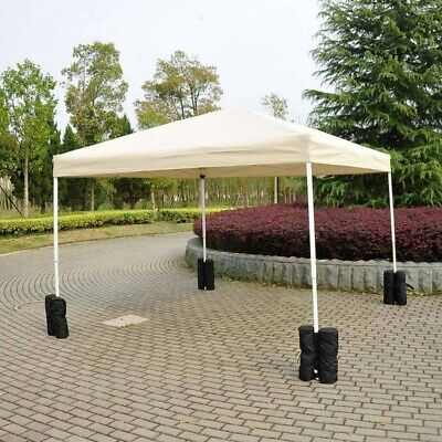 AU25.15 • Buy 4Pcs Durable Gazebo Tent Leg Weighted Sand Bags Pop Up Canopy Tent Foot Sandbags