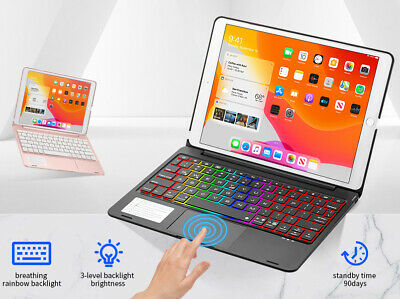 AU63.62 • Buy For 10.2  IPad 8th 7th Pro 10.5  Air 3 Air 4th 2020 Touchpad Keyboard Folio Case
