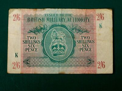 £35 • Buy British Military Authority Two Shilling Six Pence 2/6 Combined Bank Note 1943 F