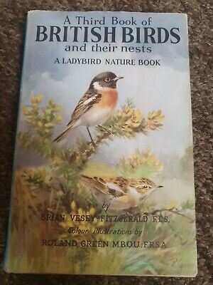 A Third Book Of BRITISH BIRDS And Their Nests Vintage Ladybird In Unclipped DJ • 6.99£
