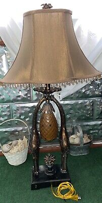 """$540 • Buy Hollywood Regency Safari Traditional Style Accent Table Lamp Maitland Smith 35""""L"""