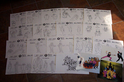 $ CDN31.28 • Buy ADDAMS FAMILY 1992 ANIMATORS MODEL SHEETS HANNA BARBERA Artist Reference Guide