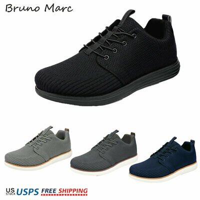 $16.89 • Buy Bruno Marc Men's Fashion Sneakers Low Top Knit Breathable Lace Up Casual Shoes