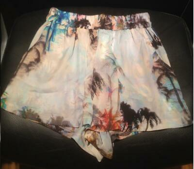 Bnwt Topshop Palm Print Runner Shorts By Oh My Love - Uk Small S Rrp £28 • 19.99£