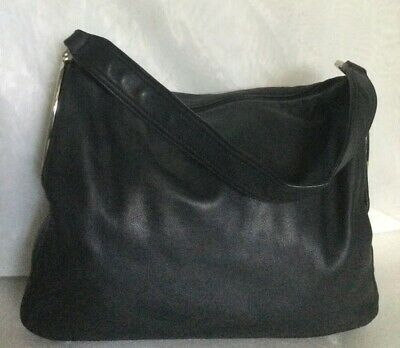 AU119 • Buy OROTON Black Leather Hobo/Shoulder Bag / Handbag