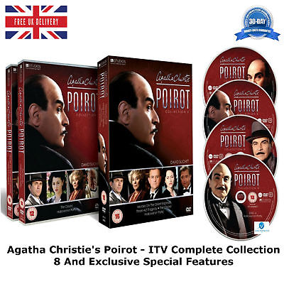 £24.99 • Buy Agatha Christie's Poirot ITV Complete Collection 8 Brand New Sealed Region 2 DVD