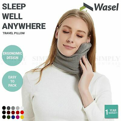 AU16.90 • Buy Wasel Travel Pillow Flight Portable Neck Support Rest Sitting Nap Soft T Shape