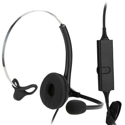 £11.41 • Buy RJ11 Call Center Telephone Headset Headphone With Noise Cancelling Mic Operator