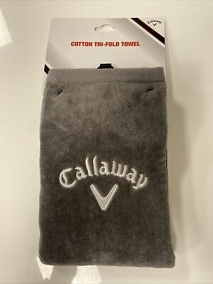 £11.99 • Buy Callaway 5413020 Golf Tri-Fold Towel - Grey