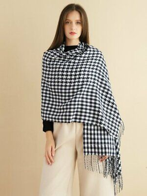 £12.99 • Buy Ladies Fashion Houndstooth Scarf, Various Colours