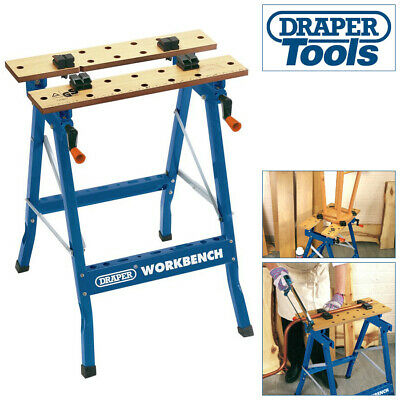 £40.70 • Buy DRAPER 600mm PORTABLE FOLD DOWN WORKBENCH WITH CLAMPING VICE WORKMATE WORK BENCH