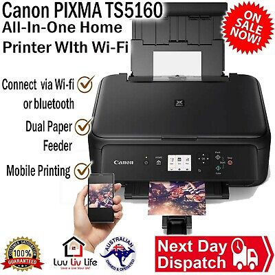 AU90 • Buy Canon PIXMA TS5160 All-In-One Wireless Printer Duplex AirPrint With Ink Starter