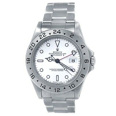 $ CDN11160.06 • Buy Rolex Explorer II Stainless Steel Oyster Automatic White Men's Watch 16570