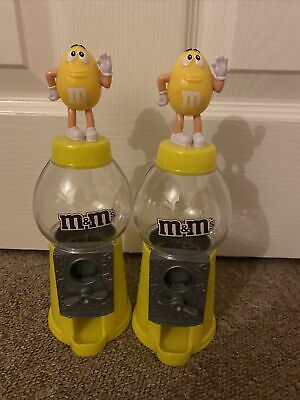 2x M&m's Sweet Chocolate Yellow Dispensers • 7£