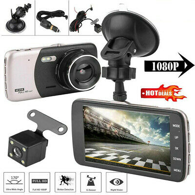 AU35.99 • Buy HD 1080P Car Dash Camera Recorder LCD Dual Lens DVR Front And Rear Reverse Cam