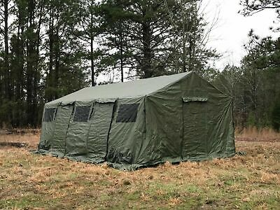 $2915.95 • Buy NEW US Military Spec HDT Base-X 305 Tent Shelter 18' X 25' Floor, Liner & Stakes