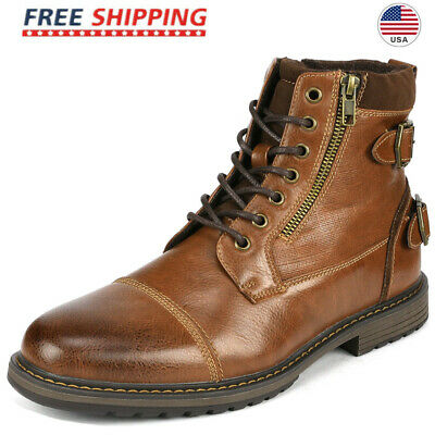 $33.24 • Buy Bruno Marc Men's Combat Motorcycle Boots Oxford Dress Boot Lace Up Shoes Size US